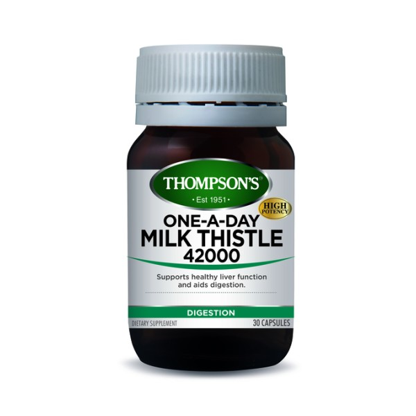 Thompson's Milk Thistle 42000mg One A Day 30 Capsules