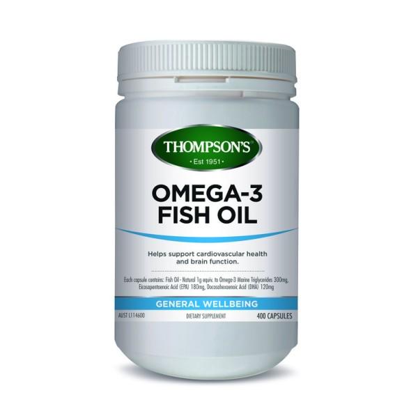 Thompson's Omega 3 Fish Oil 1000mg 400 Capsules