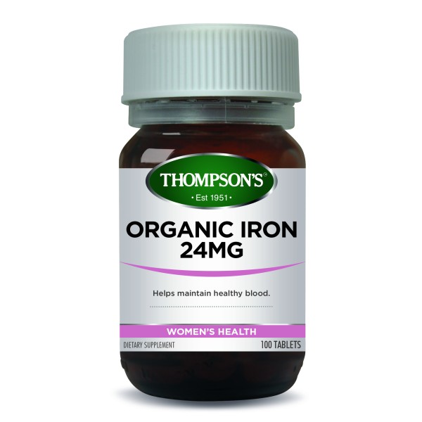 Thompson's Organic Iron 24mg 100 Tablets