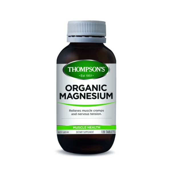 Thompson's Organic Magnesium 120 Tablets