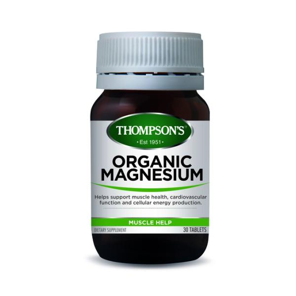 Thompson's Organic Magnesium 30 Tablets