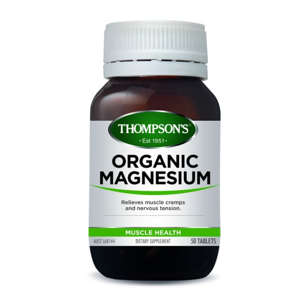 Thompson's Organic Magnesium 50 Tablets