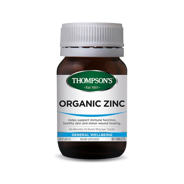 Thompson's Organic Zinc 80 Tablets