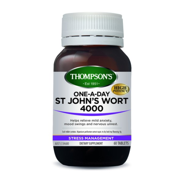 Thompson's St John's Wort 4000mg One A Day 60 Tablets
