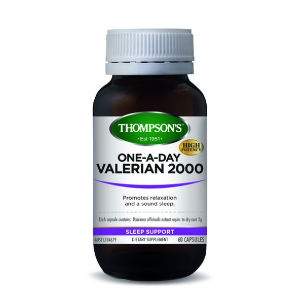 Thompson's Valerian 2000mg One A Day 60 Capsules