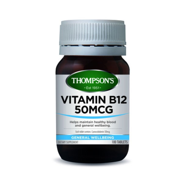 Thompson's Vitamin B12 50mcg 100 Tablets