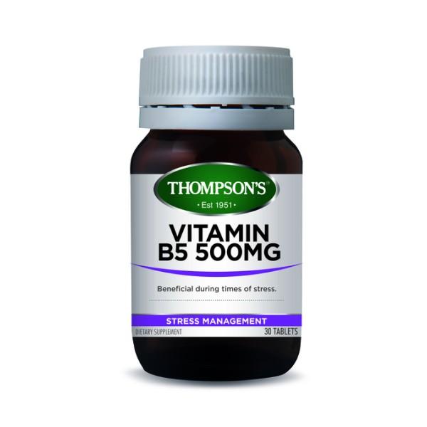 Thompson's Vitamin B5 500mg 30 Tablets