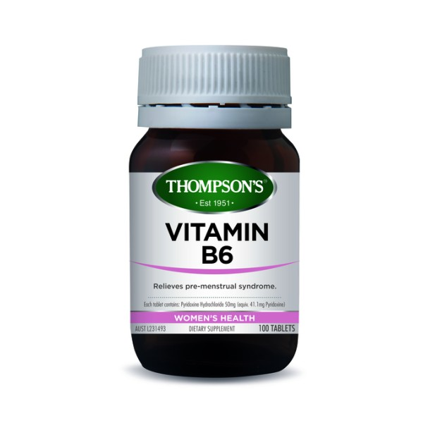 Thompson's Vitamin B6 100 Tablets