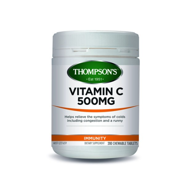 Thompson's Vitamin C 500mg Chewable 200 Tablets