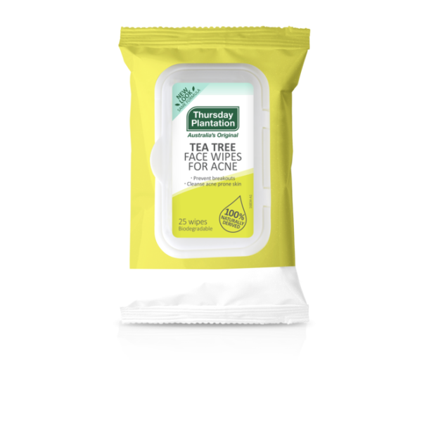 Thursday Plantation Tea Tree Face Wipes For Acne 25s
