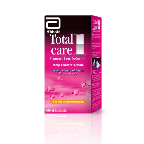 Total Care 1 Contact Lens Solution 100ml - Hard/Gas Lenses