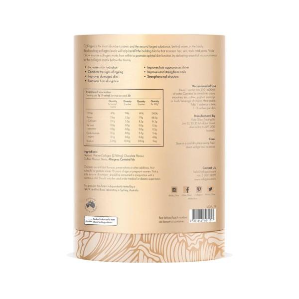 Vida Glow Natural Marine Collagen Mocha 30 x 3g Sachets