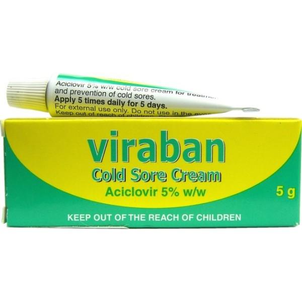 Viraban Cold Sore Cream 5g